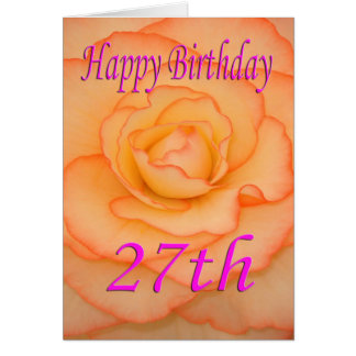 Happy 27th Birthday Flower Card