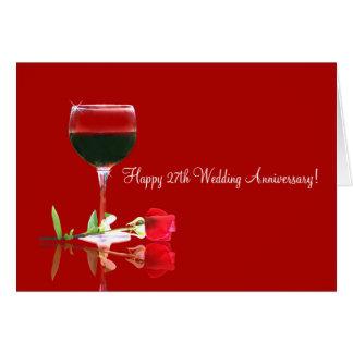 Happy 27th Wedding Anniversary Card