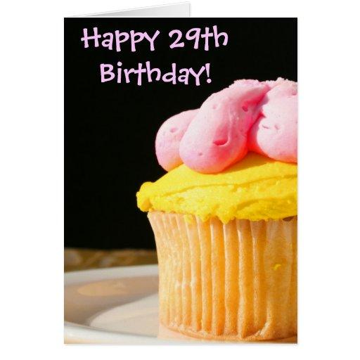 Happy 29th Birthday Cupcake Greeting Card
