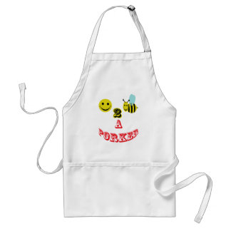 happy 2 bee a porker. adult apron