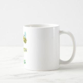 happy 2 bee competing in brazil basic white mug