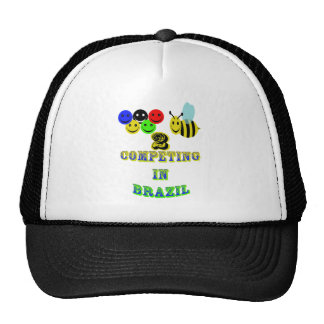 happy 2 bee competing in brazil hat