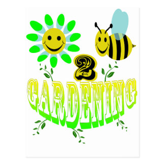 Happy 2 bee Gardening Postcard