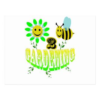Happy 2 bee Gardening Post Cards