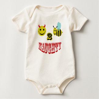 happy 2 bee naughty baby bodysuit