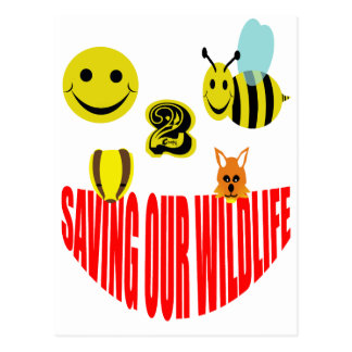 Happy 2 bee saving our wildlife postcard