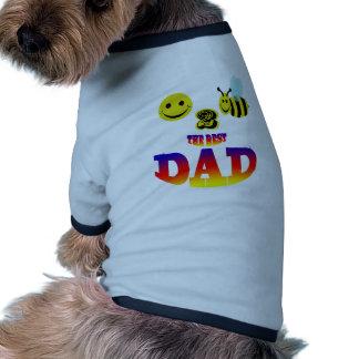 happy 2 bee the best dad doggie tee shirt