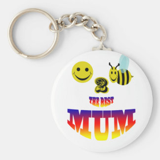 happy,2 bee the best mum key chains