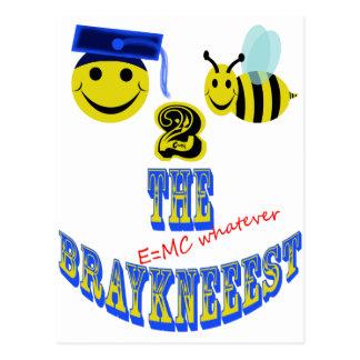 happy 2 bee the braykneeest postcard