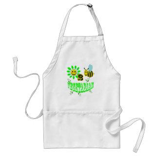 happy 2 bee vegetarian. standard apron