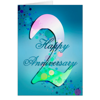 Happy 2nd Anniversary  (anniversary card) Greeting Card