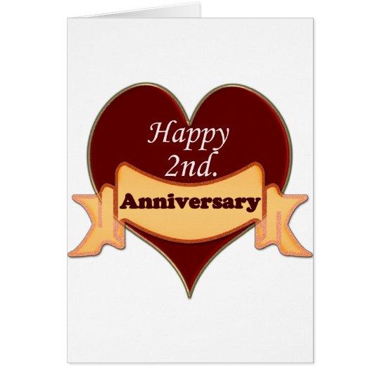 Happy 2nd. Anniversary Card
