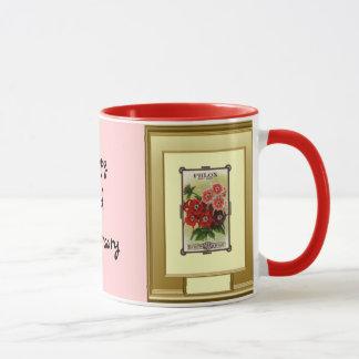 Happy 2nd Anniversary, Pink Phlox Mug