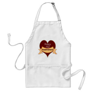 Happy 2nd. Anniversary Standard Apron