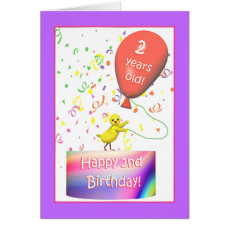 Happy 2nd Birthday Chicken Greeting Card
