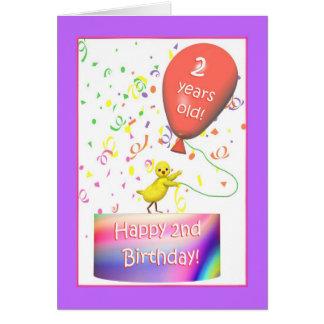 Happy 2nd Birthday Chicken Greeting Card