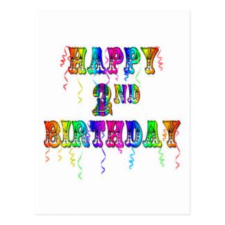 Happy 2nd Birthday Toddler Birthday Gifts Postcards
