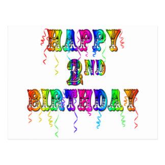 Happy 2nd Birthday Toddler Birthday Gifts Postcard