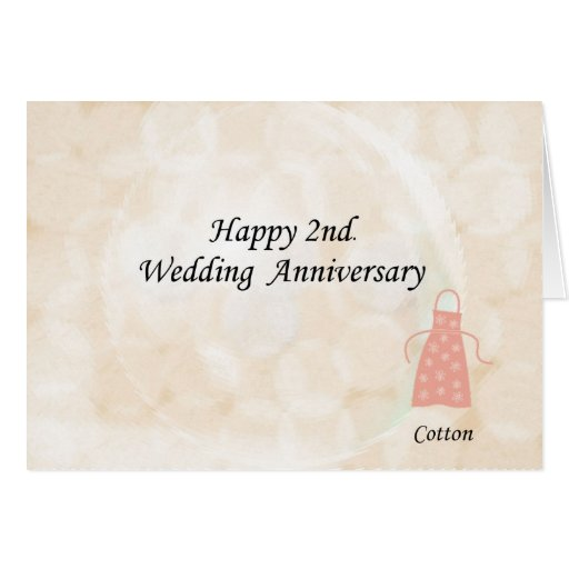 Happy nd wedding anniversary greeting card zazzle