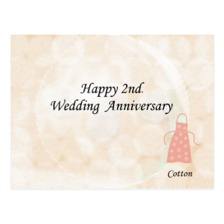 Happy 2nd. Wedding Anniversary Postcard