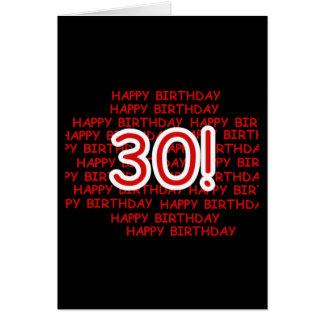 Happy 30th Birthday Cards