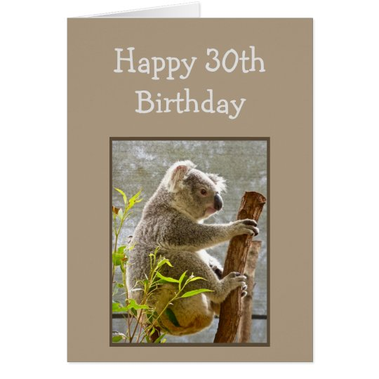 "Happy 30th Birthday Koalified ""Over the Hill"" Fun Card"