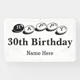 Happy 30th Birthday Sale Banner