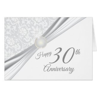 Happy 30th Wedding Anniversary Card