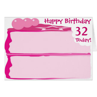 Happy 32nd Birthday Card