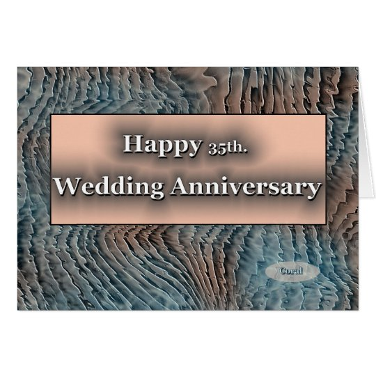Happy 35th. Coral Wedding Anniversary Card