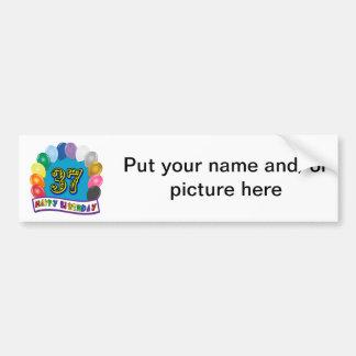 Happy 37th Birthday Balloon Arch Bumper Sticker