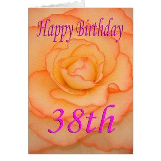 Happy 38th Birthday Flower Card