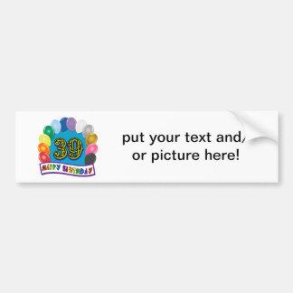 Happy 39th Birthday Balloon Arch Bumper Sticker