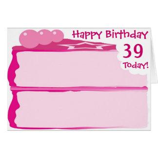 Happy 39th Birthday Card