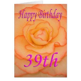 Happy 39th Birthday Flower Card