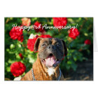 Happy 3rd Anniversary Boxer Dog Greeting Card