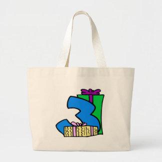 Happy 3rd Birthday Gifts Jumbo Tote Bag