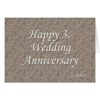 Happy 3rd. Wedding Anniversary Card