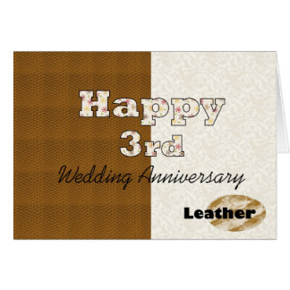 Happy 3rd Wedding Anniversary Greeting Card