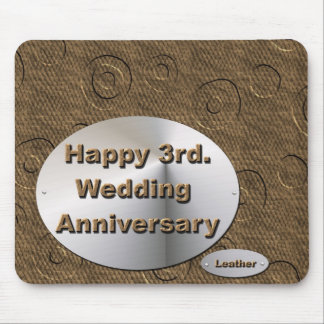 Happy 3rd. Wedding Anniversary Mouse Pad