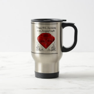 Happy 40th Anniversary Gifts Stainless Travel Mugs