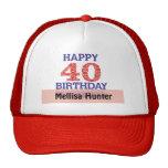 Happy 40th Birthday Cap