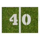 Happy 40th Birthday Football Card Customisable