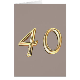 Happy 40th Birthday fourties fourty 40 40th forty Greeting Card