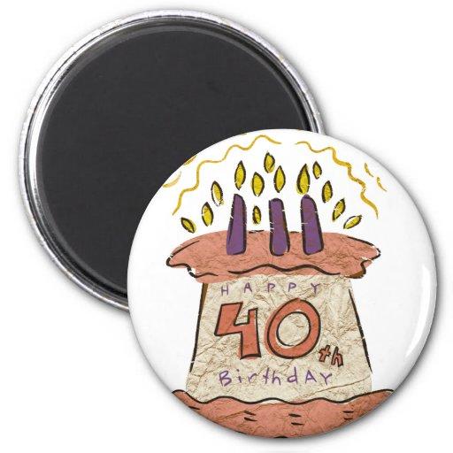 Happy 40th Birthday Gifts Fridge Magnets