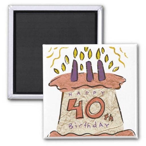Happy 40th Birthday Gifts Fridge Magnet