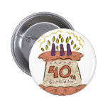 Happy 40th Birthday Gifts Pins