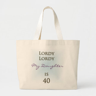 Happy 40th Birthday Large Tote Bag