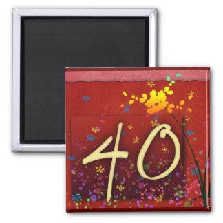 Happy 40th Birthday! Magnet