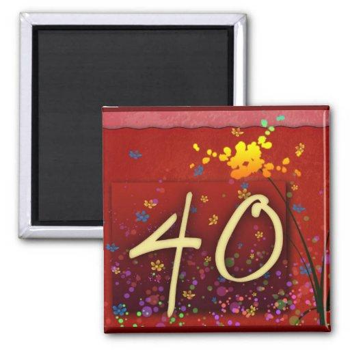 Happy 40th Birthday! Refrigerator Magnets